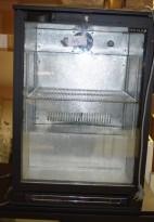 Bruskjøleskap m/glassdør fra Norpe, modell BA15H/R600, 60cm bredde, 87cm høyde, pent brukt
