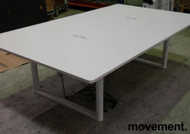Møtebord med elektrisk hevsenk fra Vitra i hvitt, 240x140cm, modell Tyde, design: Ronan & Erwan Bouroullec, pent brukt bilde 5