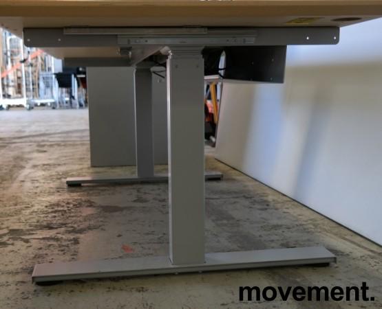 Skrivebord med elektrisk hevsenk i lys grå HPL fra Linak, 160x80cm, pent brukt bilde 2