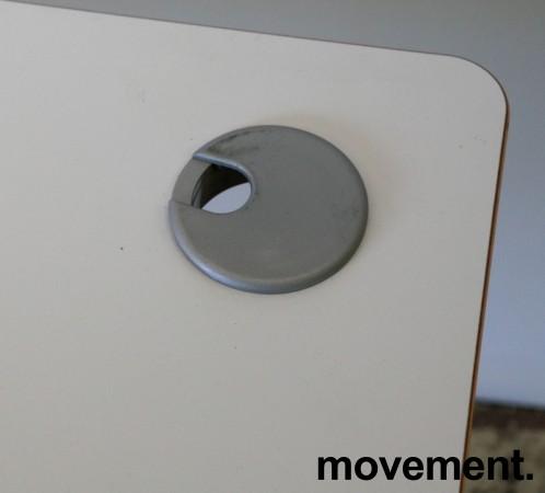Skrivebord med elektrisk hevsenk i lys grå HPL fra Linak, 160x80cm, pent brukt bilde 3