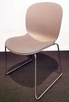 Stablestol / konferansestol fra RBM, modell NOOR i grått med grått stoffsete, pent brukt