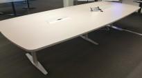 Møtebord fra Duba-B8 grå plate, grått understell, 340x150cm, passer for 10-14 personer, pent brukt