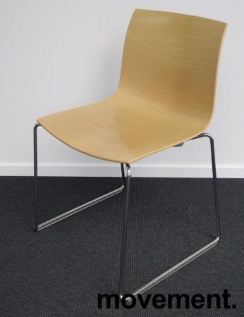 Arper Catifa 46, stablebar design-stol i ask finer / krom, meieunderstell, pent brukt bilde 1