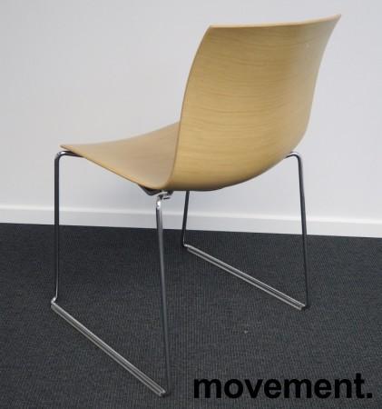 Arper Catifa 46, stablebar design-stol i ask finer / krom, meieunderstell, pent brukt bilde 2