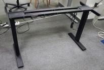Linak sort understell til skrivebord med elektrisk hevsenk / understell til skrivebord, 120-160cm bredde, passer bordplate med dybde 60cm, NY/UBRUKT
