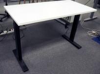 Skrivebord med elektrisk hevsenk i hvitt / sort fra Linak, 120x60cm, NY/UBRUKT