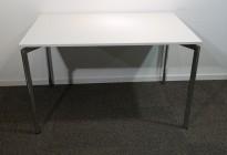 Lammhult Campus 120x60cm skrivebord / kantinebord i hvitt / krom, pent brukt
