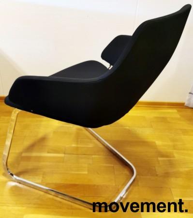 Loungestol fra Arper, Modell Aston, i sort/krom, Design: Jean-Marie Massaud, pent brukt bilde 3