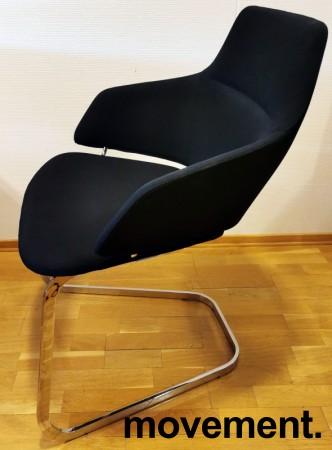 Loungestol fra Arper, Modell Aston, i sort/krom, Design: Jean-Marie Massaud, pent brukt bilde 2