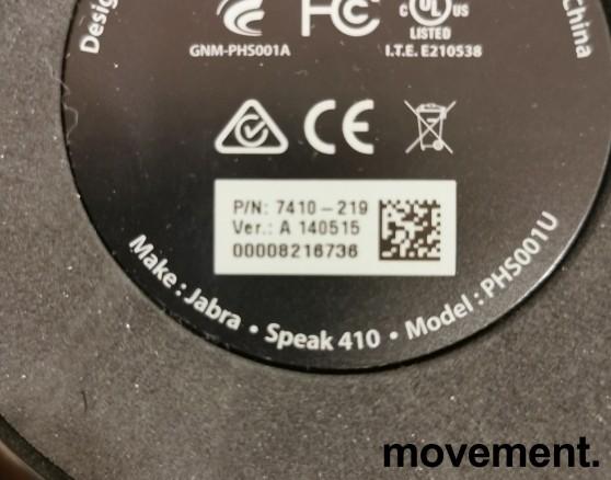 Jabra Speak 410 MS Lync, modell 7410-219, Bærbar høyttalertelefon for møterom etc, pent brukt bilde 4